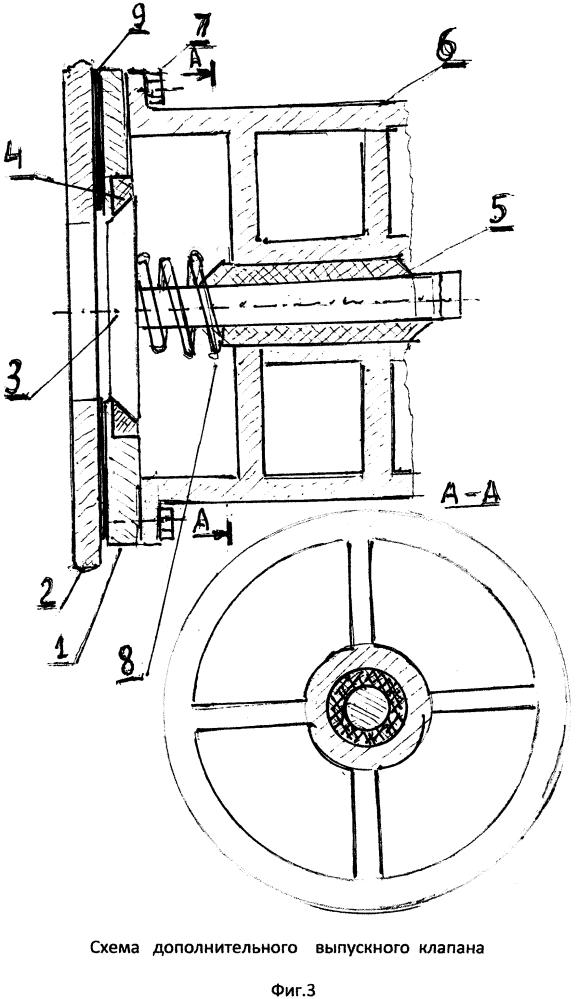 Двигатель внутреннего сгорания с дополнительным выпускным клапаном
