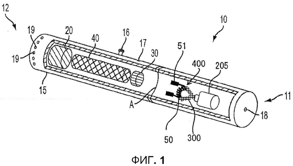 Система резервуара и нагревателя для управляемой доставки множества аэрозольных материалов в электронном курительном изделии