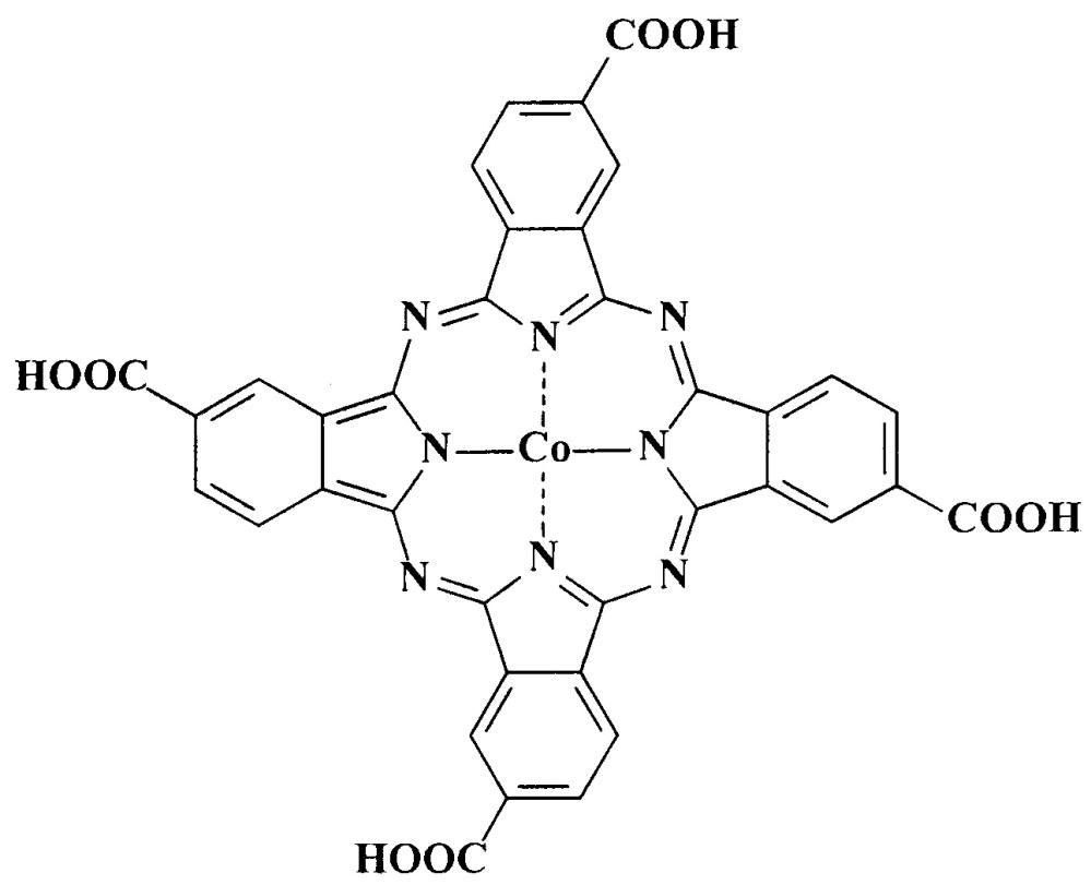 Гомогенный катализатор окисления диэтилдитиокарбамата натрия на основе тетра-4-(4&χεντ;-карбоксифенилсульфанил)-5-нитрофталоцианина кобальта(ii)