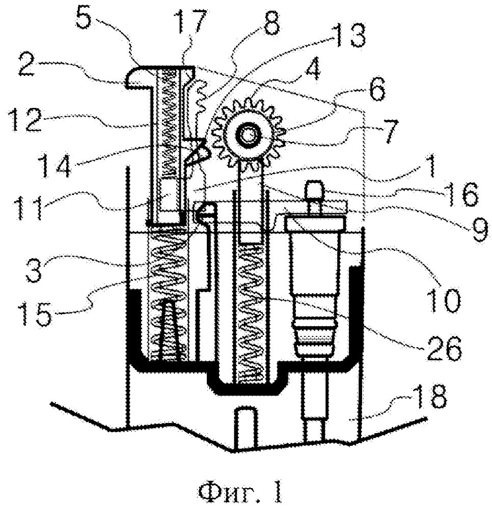 Механизм кремневого зажигания кнопочного типа, выполненный с возможностью автоматического возврата