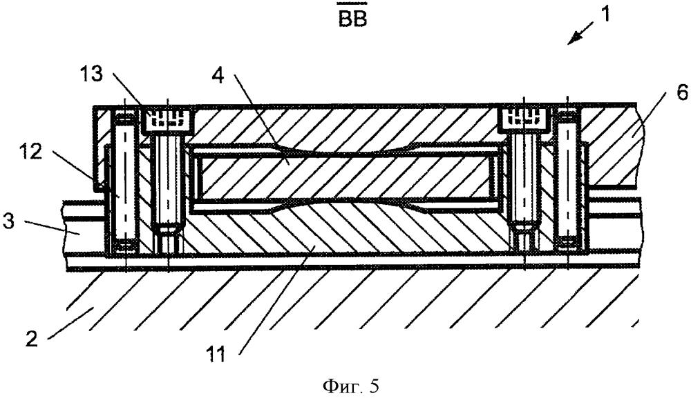 Модуль поворотно-раздвижной двери для рельсового транспортного средства