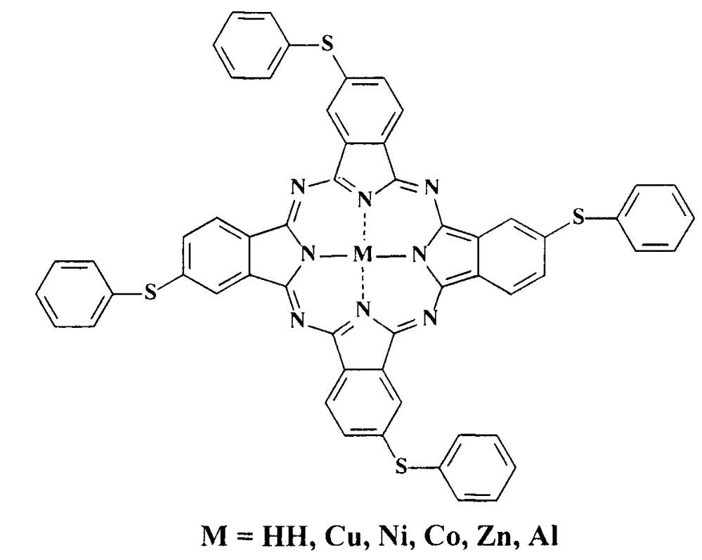 Металлокомплексы окта-4,5-(4-сульфофенилсульфанил)фталоцианина с медью, цинком и кобальтом