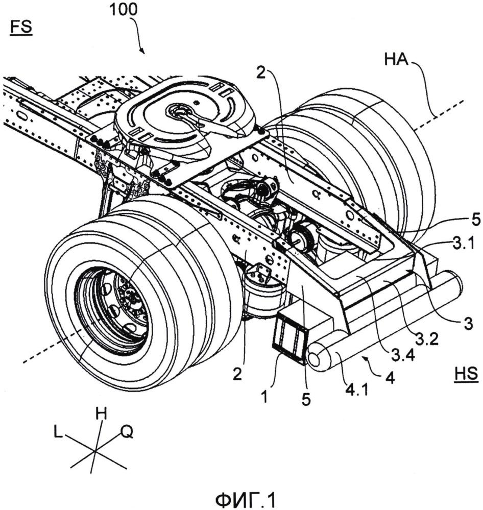 Рамная несущая конструкция с приемным контейнером для по меньшей мере одного компонента автомобиля промышленного назначения
