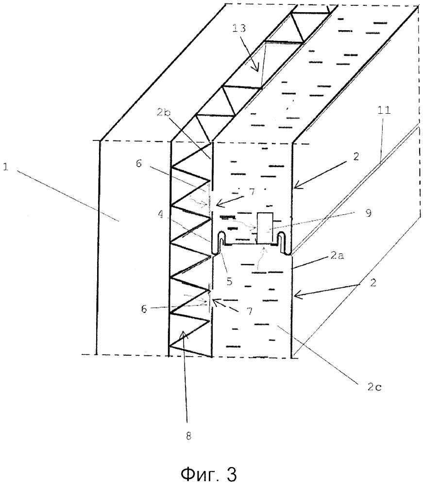 Многослойный реставрационный строительный элемент