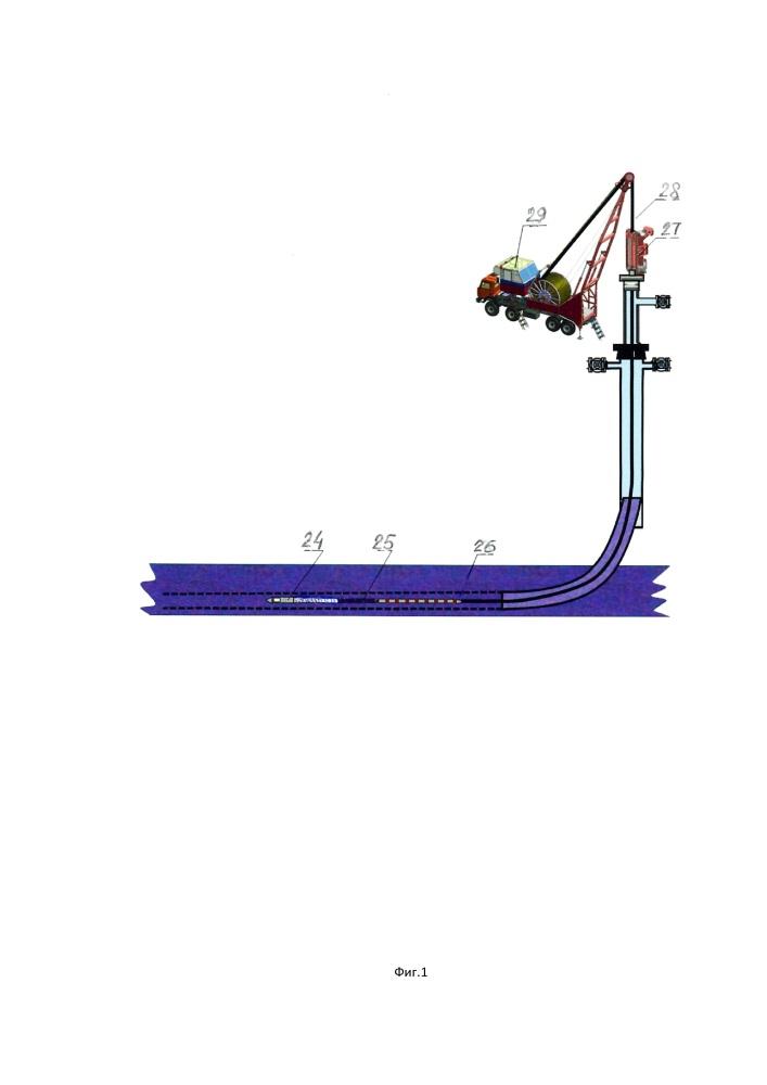 Способ и устройство восстановления продуктивности горизонтальной скважины и воздействия на пласт