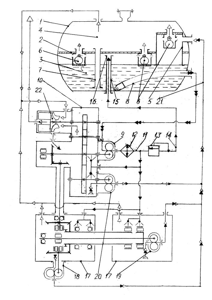 Маслосистема газотурбинного двигателя маневренного самолета