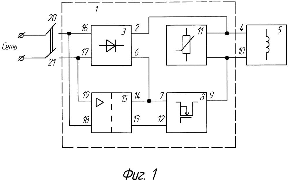 Устройство управления катушкой электромагнита тормоза