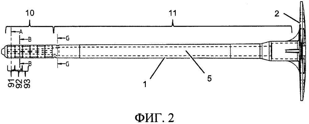 Распорный дюбель с распорным участком с прорезями
