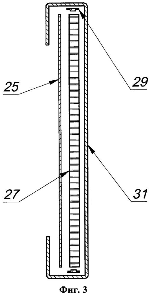 Световая панель с торцевым вводом излучения