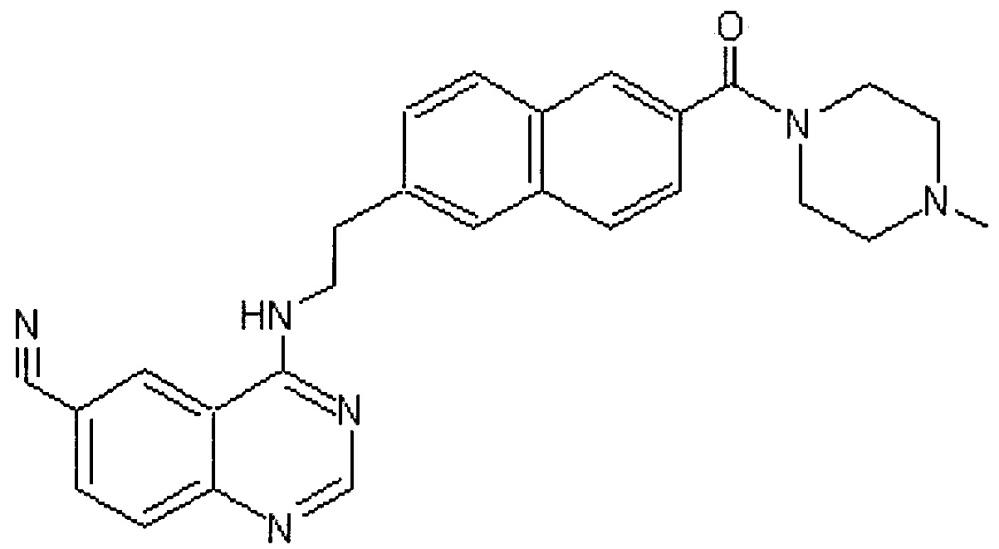 Соли 4-((2-(6-(4-метилпиперазин-1-карбонил)нафталин-2-ил)этил)амино)хиназолин-6-карбонитрила и фармацевтическая композиция