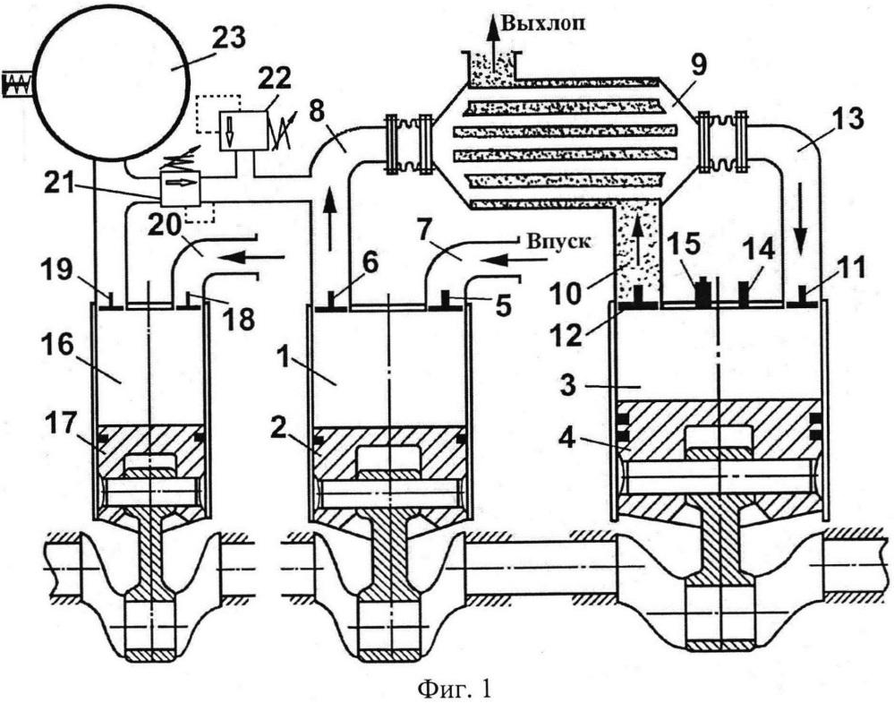 Способ работы двигателя внутреннего сгорания с регенерацией тепла в цикле и двигатель для его осуществления