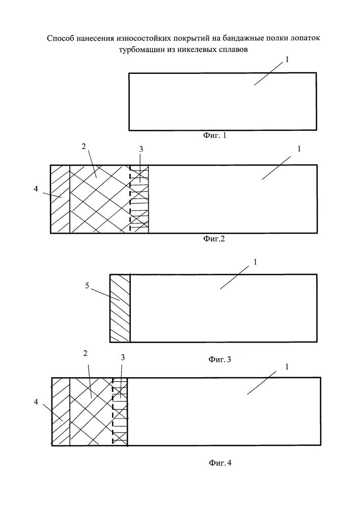 Способ нанесения износостойкого покрытия на бандажную полку лопатки турбомашин из никелевых сплавов