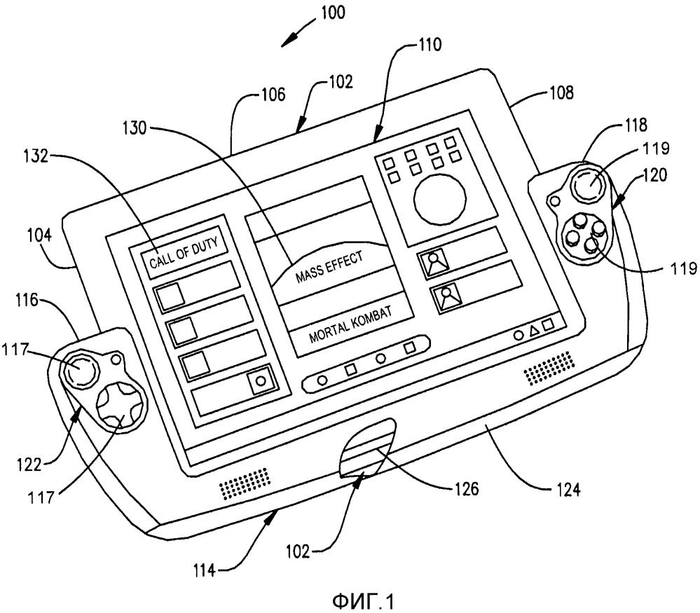 Комбинация планшетного компьютера и игрового контроллера, содержащего гибкую мостовую секцию