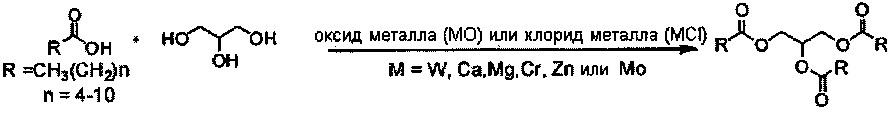 Способ получения триглицеридов среднецепочечных жирных кислот