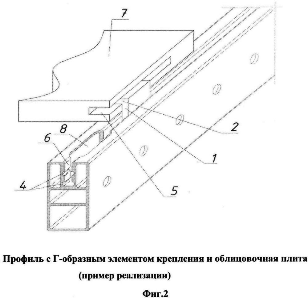 Г-образный элемент крепления облицовочных плит (панелей) навесного каркаса системы облицовки зданий и помещений скрытым способом