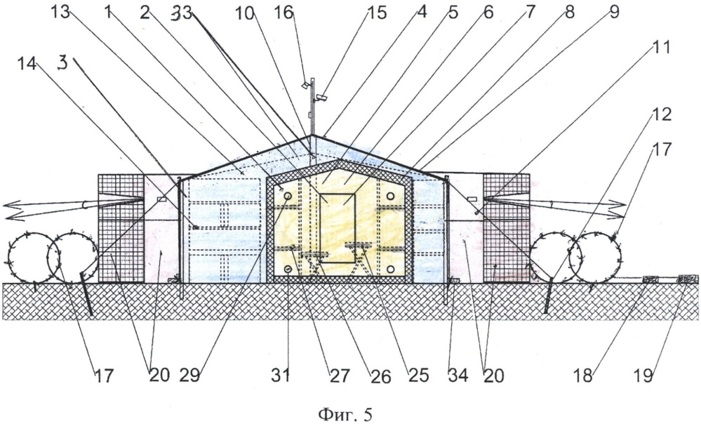 Защитно-маскировочное сооружение арктических боевых подразделений