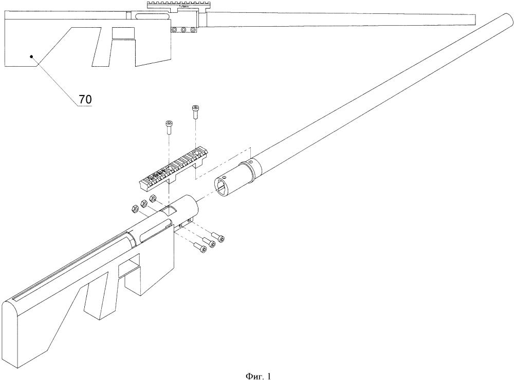 Узел крепления ствола огнестрельного оружия