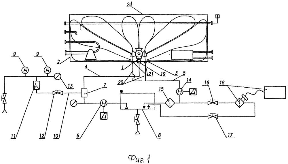 Установка для промывки топливного бака летательного аппарата газонасыщенной жидкостью (варианты)