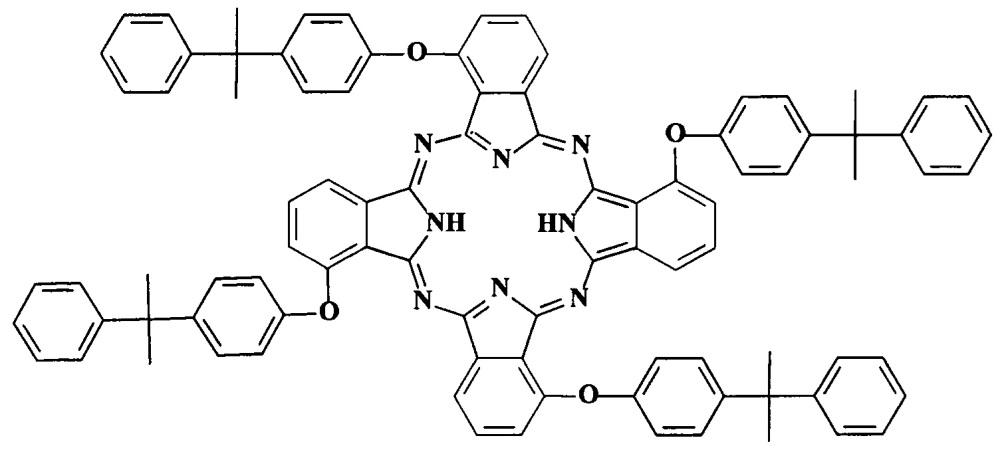 Металлокомплексы окта-4,5-[4-(1-метил-1-фенилэтил)фенокси]фталоцианина в качестве люминесцентных материалов и красителей для полимерных материалов и способ их получения
