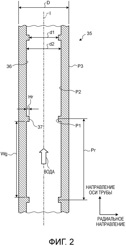 Теплообменная труба, котел и паротурбинное устройство