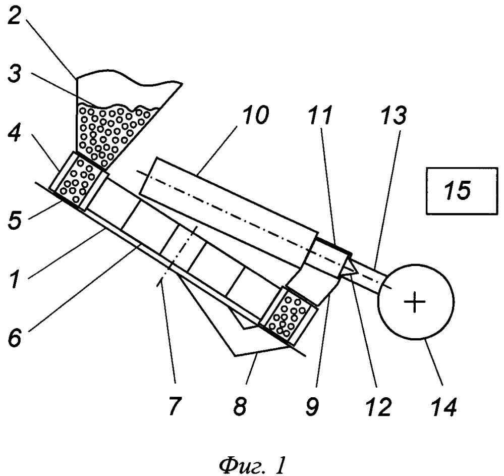Устройство для газотермического детонационного напыления слоя покрытия с импульсным дозированием подачи порошка