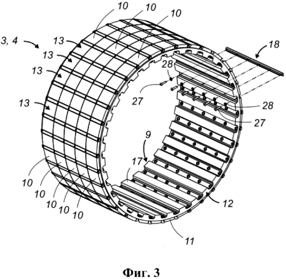 Несущая магниты подвижная часть для синхронной машины с постоянными магнитами