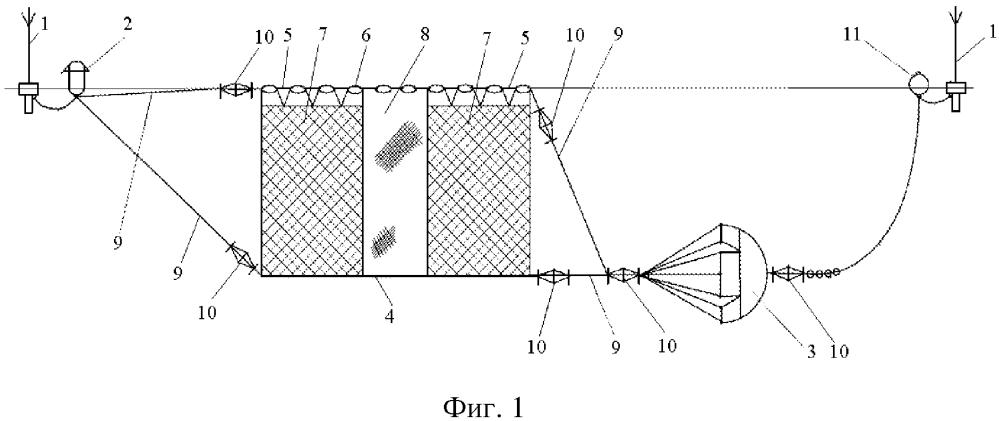 Аэрогидродинамический промысловый буй и способ промысла поверхностных объектов лова