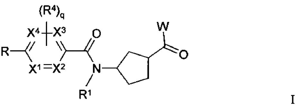 3-аминоциклопентанкарбоксамидные производные