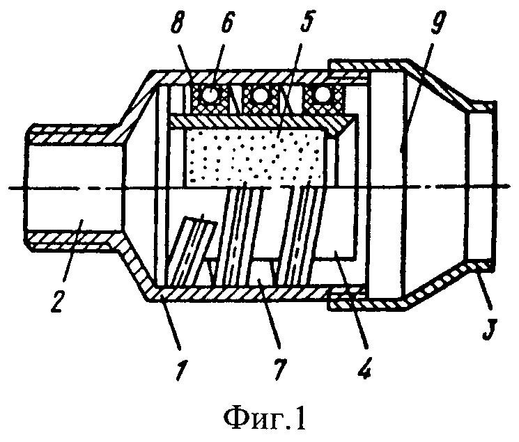 Глушитель шума газового потока