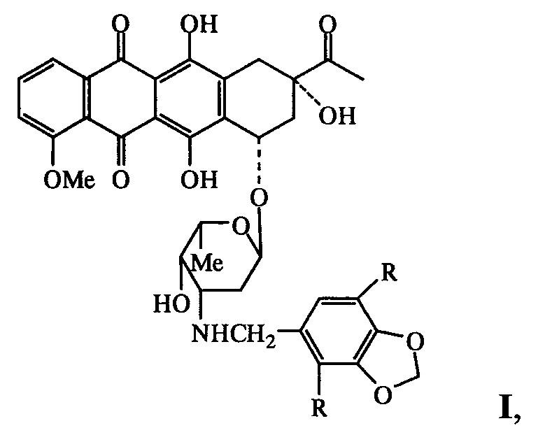 N-пиперонильные производные даунорубицина, обладающие антипролиферативными свойствами