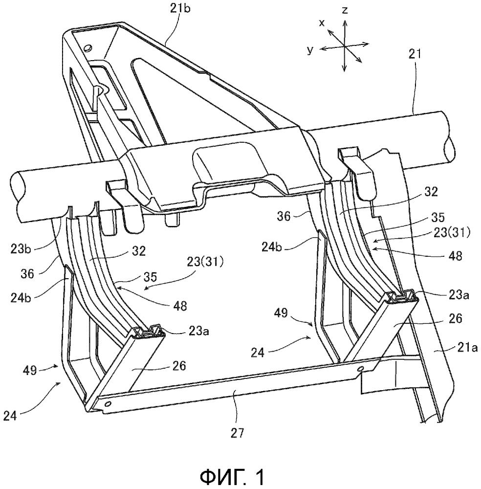 Устройство для защиты коленей для транспортного средства