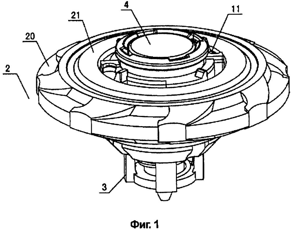 Гироскопическая игрушка, имеющая гироскопическое кольцо, выполненное с возможностью сборки с обеих сторон