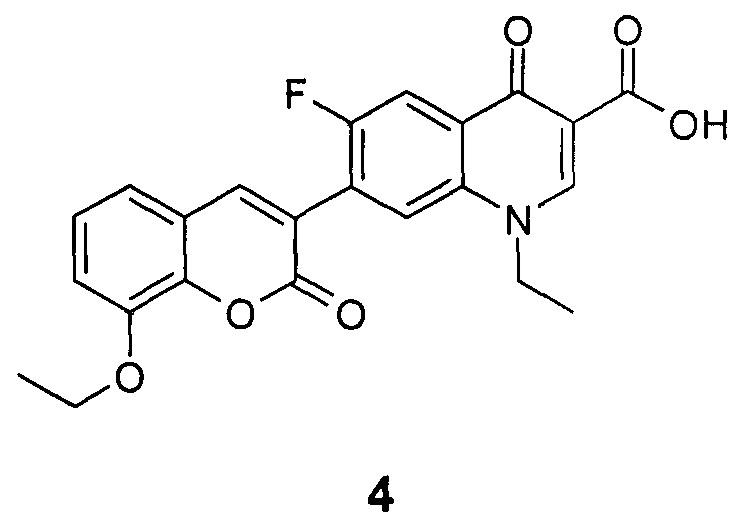 1-этил-6-фтор-4-оксо-7-(8-этокси-2-оксо-2н-хромен-3-ил)-1,4-дигидрохинолин-3-карбоновая кислота, обладающая противотуберкулезной активностью