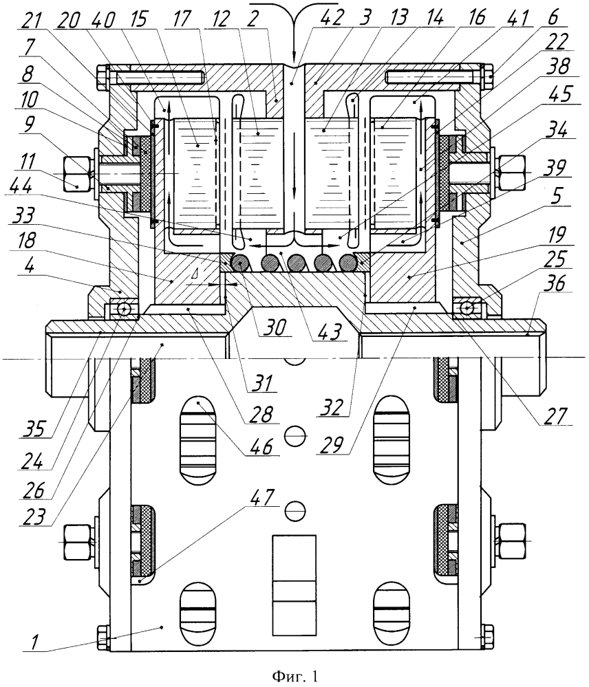 Самотормозящийся сдвоенный аксиальный асинхронный электродвигатель