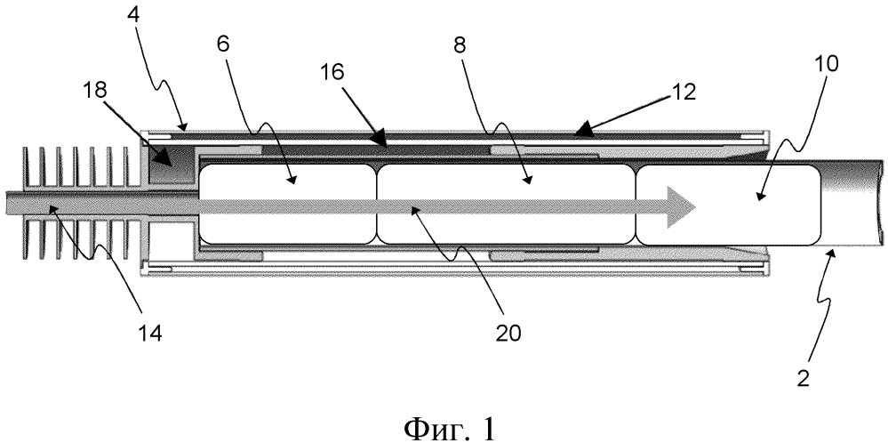 Устройство, генерирующее аэрозоль, содержащее несколько материалов с фазовыми переходами из твердого состояния в жидкое