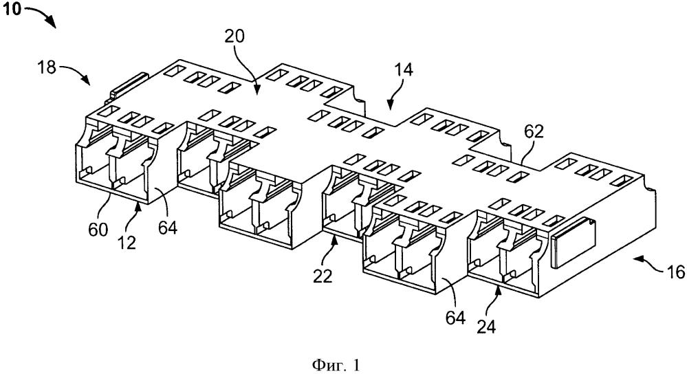 Блок оптоволоконных адаптеров