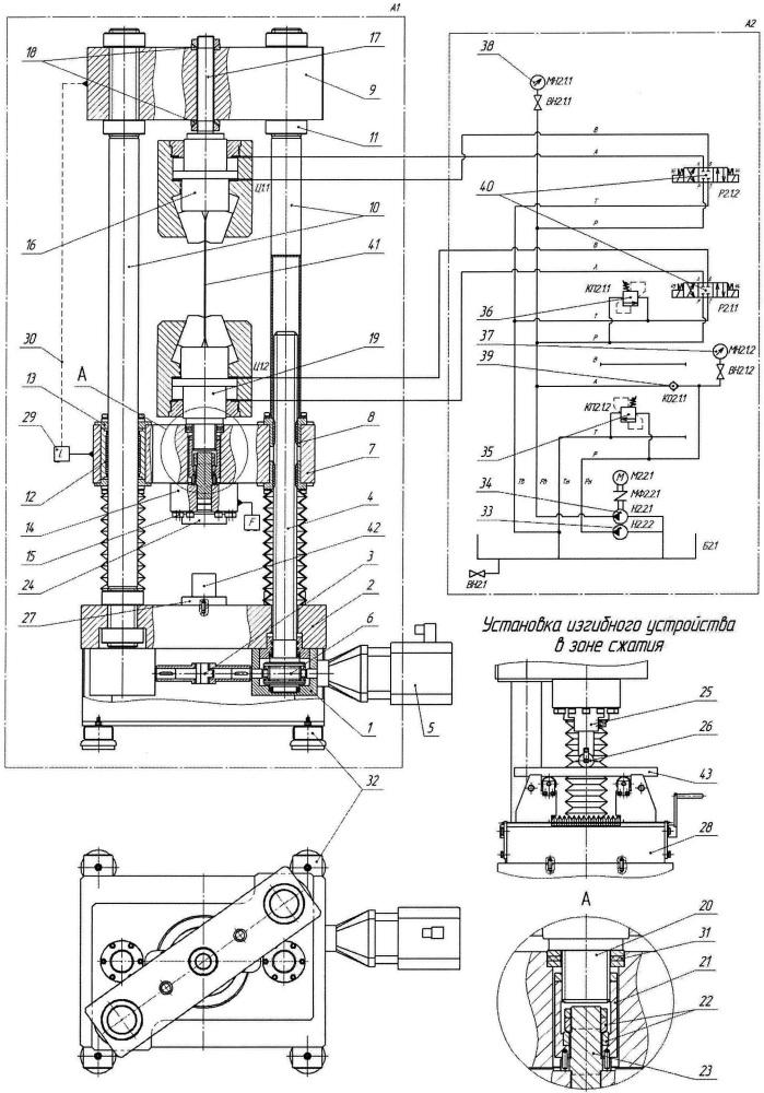 Машина испытательная сервомеханическая для механических испытаний образцов материалов на растяжение, сжатие и изгиб