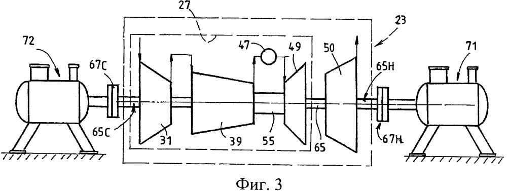 Газовая турбина с двусторонним приводом