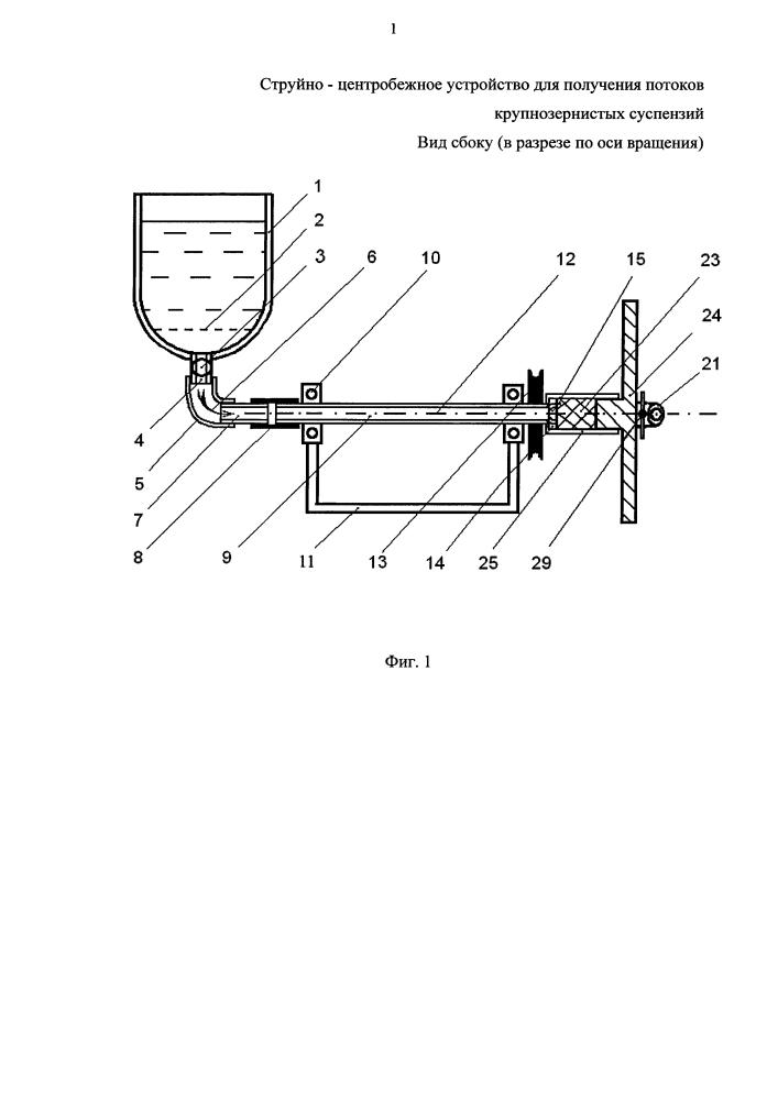 Струйно-центробежный способ получения потоков крупнозернистых суспензий