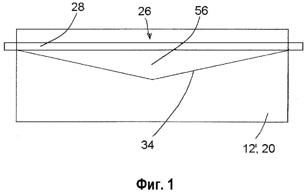 Катодный блок, имеющий паз переменной глубины и заполненное промежуточное пространство