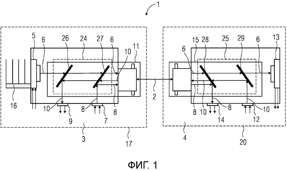 Устройство для одновременной передачи данных и мощности по оптическому волноводу