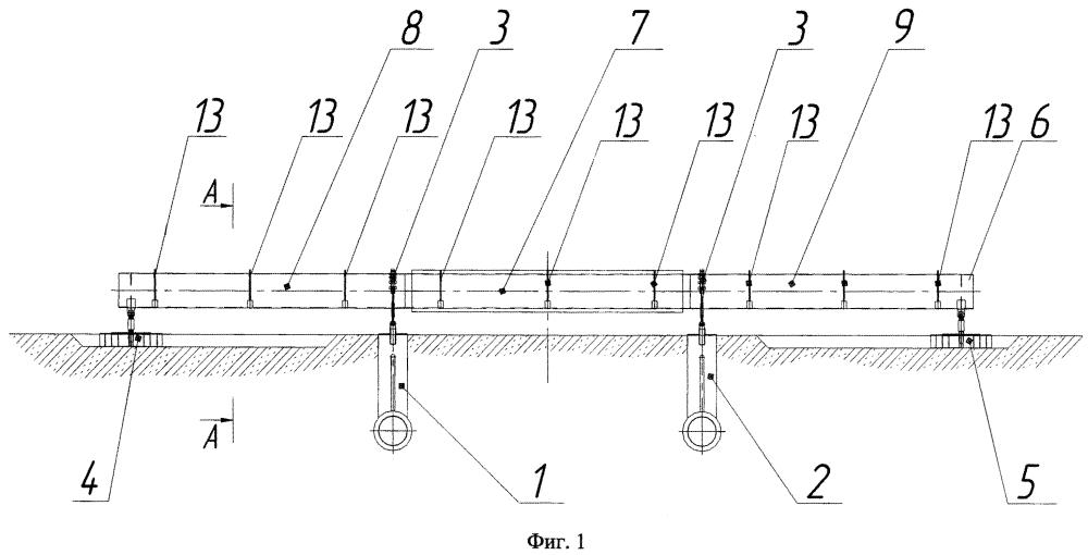 Стенд для испытания обетонированных труб