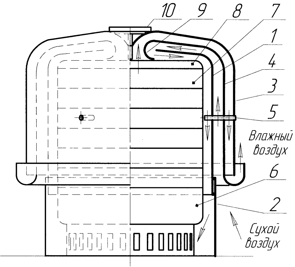 Теплообменник к электросушилкам для пищевых продуктов