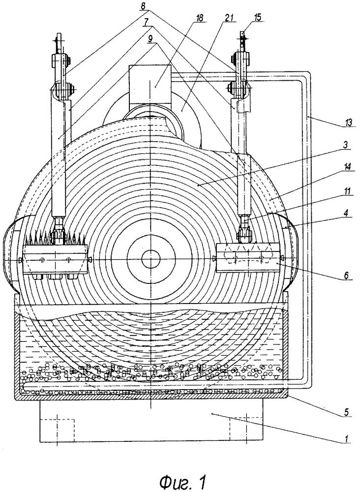 Точильный аппарат с нажимным механизмом режущих пар стригальных машинок