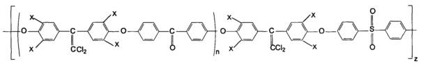 Галогенсодержащие блок-сополиэфиркетонсульфоны