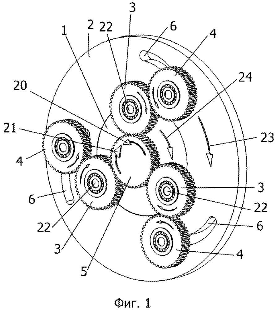 Бесступенчатая передача с тремя шестернями
