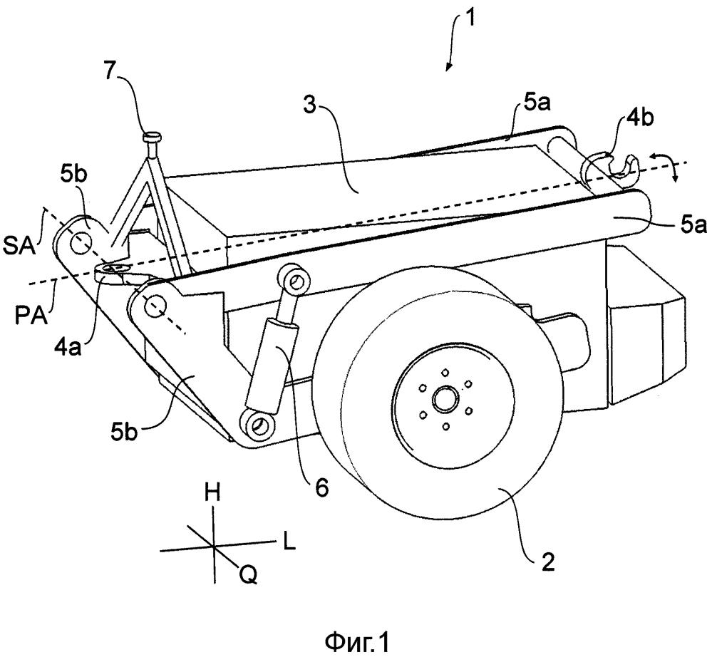 Подвесное устройство по меньшей мере для поддерживающего привода транспортного средства промышленного назначения и/или прицепа транспортного средства промышленного назначения