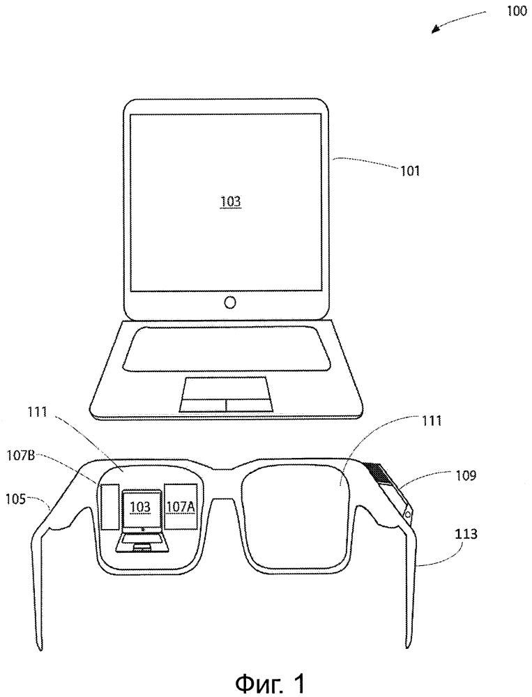 Устройство, способ и система обеспечения увеличенного дисплея с использованием шлема-дисплея