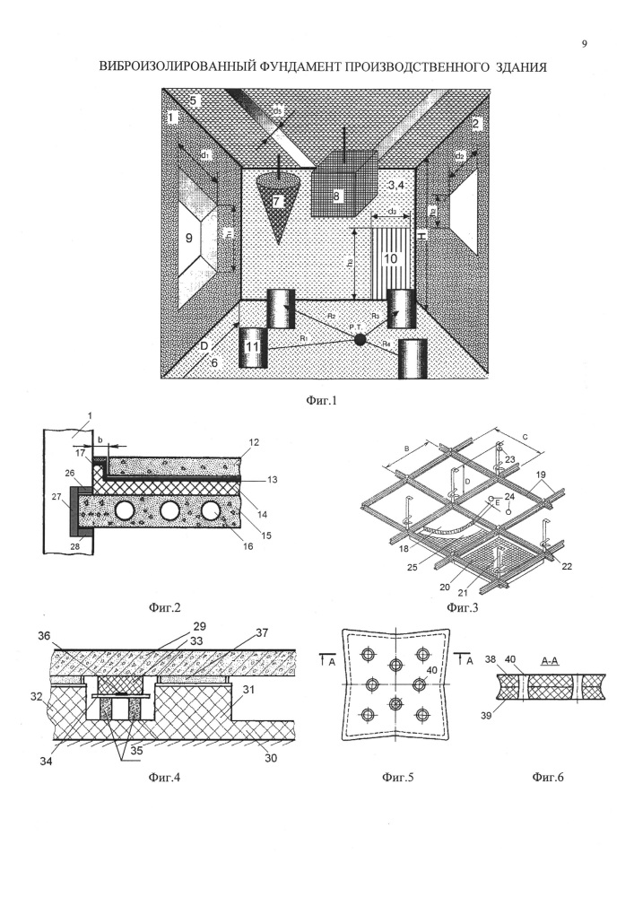Виброизолированный фундамент производственного здания
