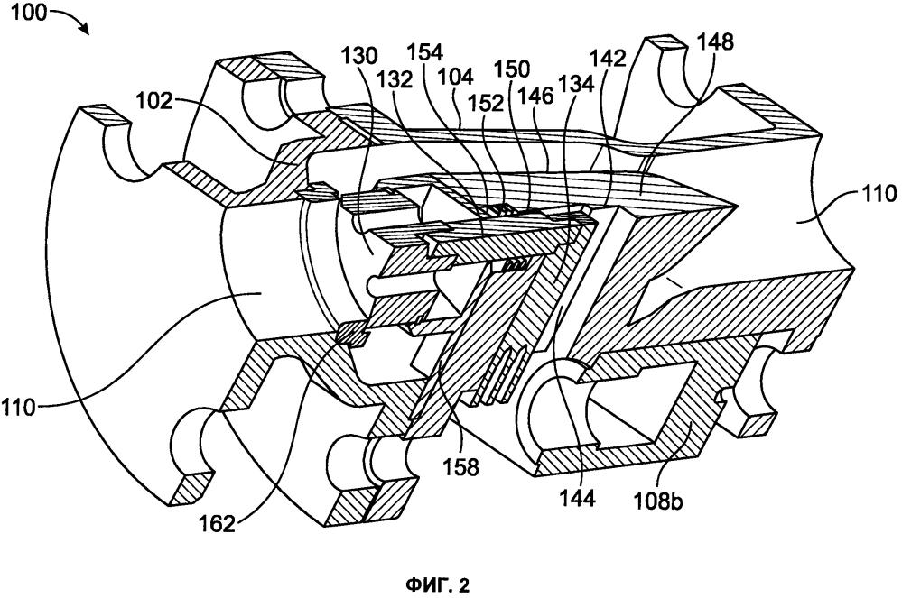 Гидравлический клапан осевого типа, имеющий линейный приводной механизм (варианты)